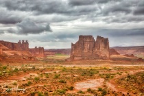 Courthouse Towers; Arches National Park