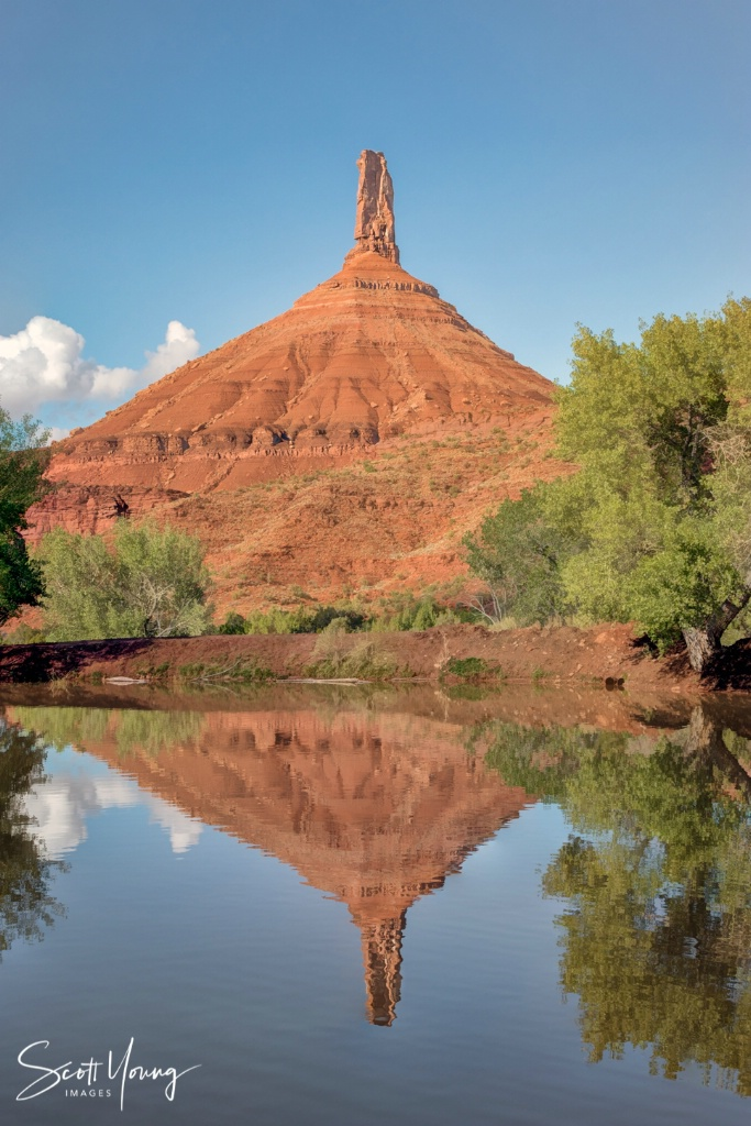 Castle Rock Reflection; Castle Valley, UT - ID: 15641024 © Richard S. Young