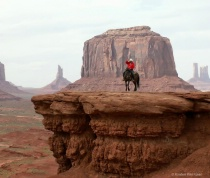 A Horseman in Monument Valley