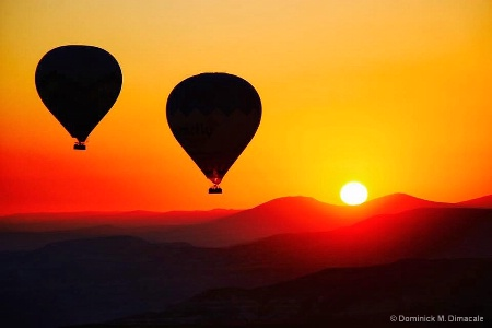 ~ ~ BALLOON IN THE SUNSET SKY ~ ~