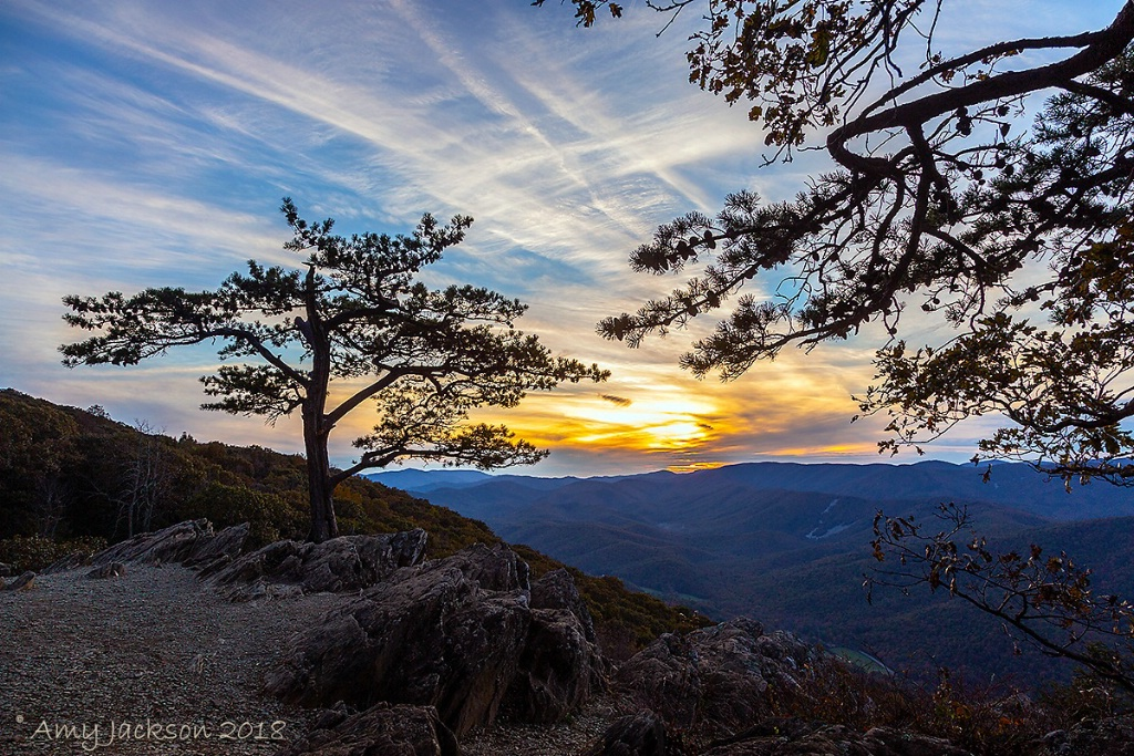 Sunset at Ravens Roost Overlook