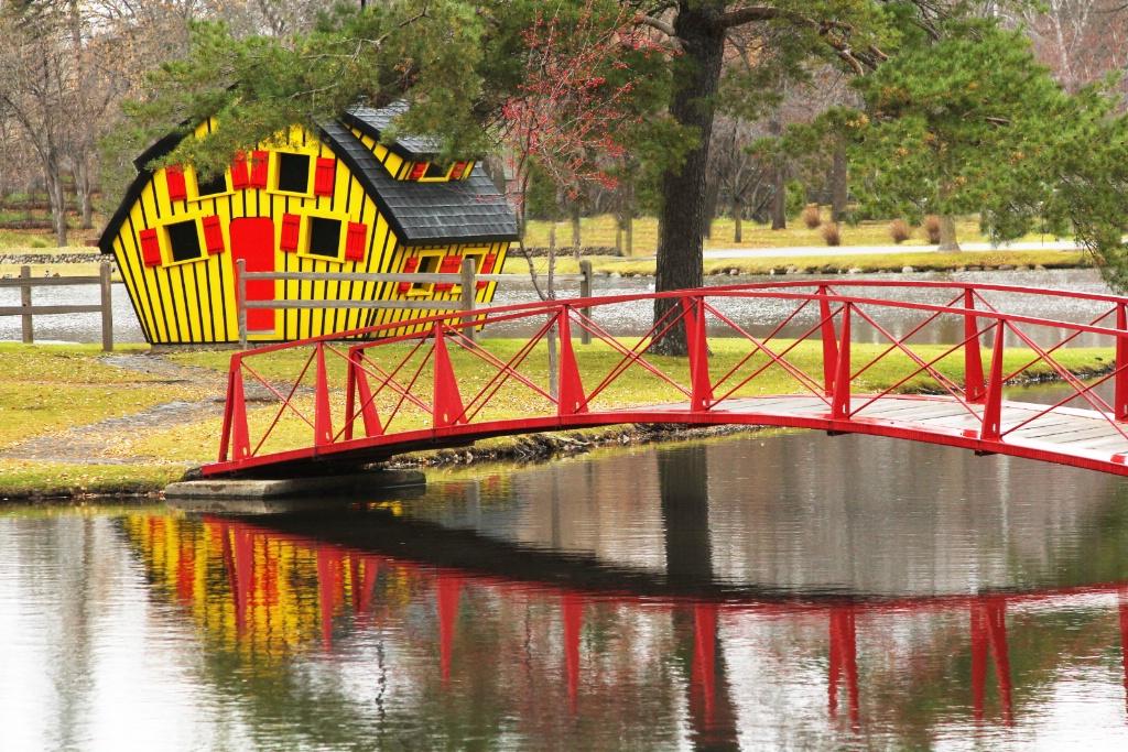 Crossing The Red Bridge