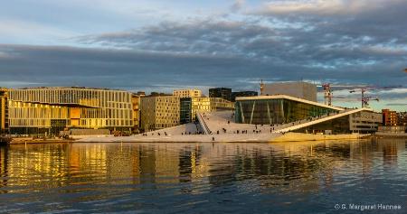 Opera House, Oslo at Sunset