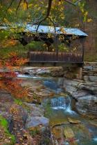 "Covered Bridge ""Ponca Arkansas"""