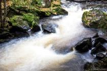 Rapids Yondonta Falls Multiple Exposure