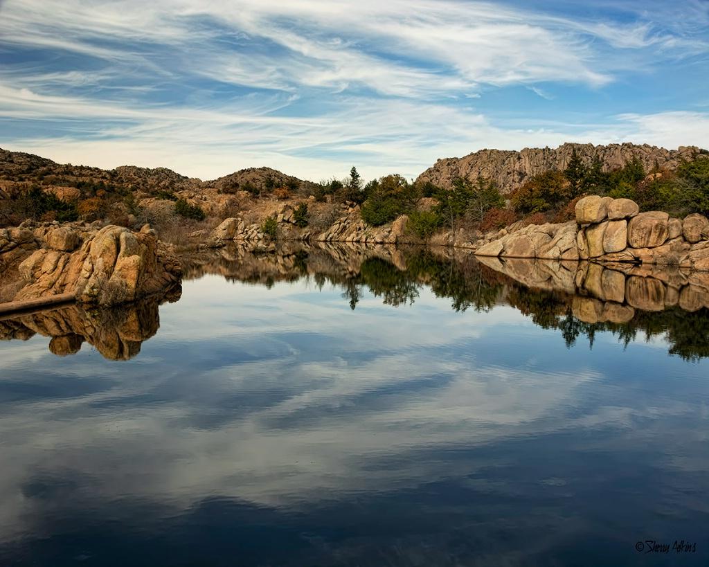 Wichita Mountains reflections - ID: 15658805 © Sherry Karr Adkins