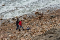 Walking the Beach at Block Island