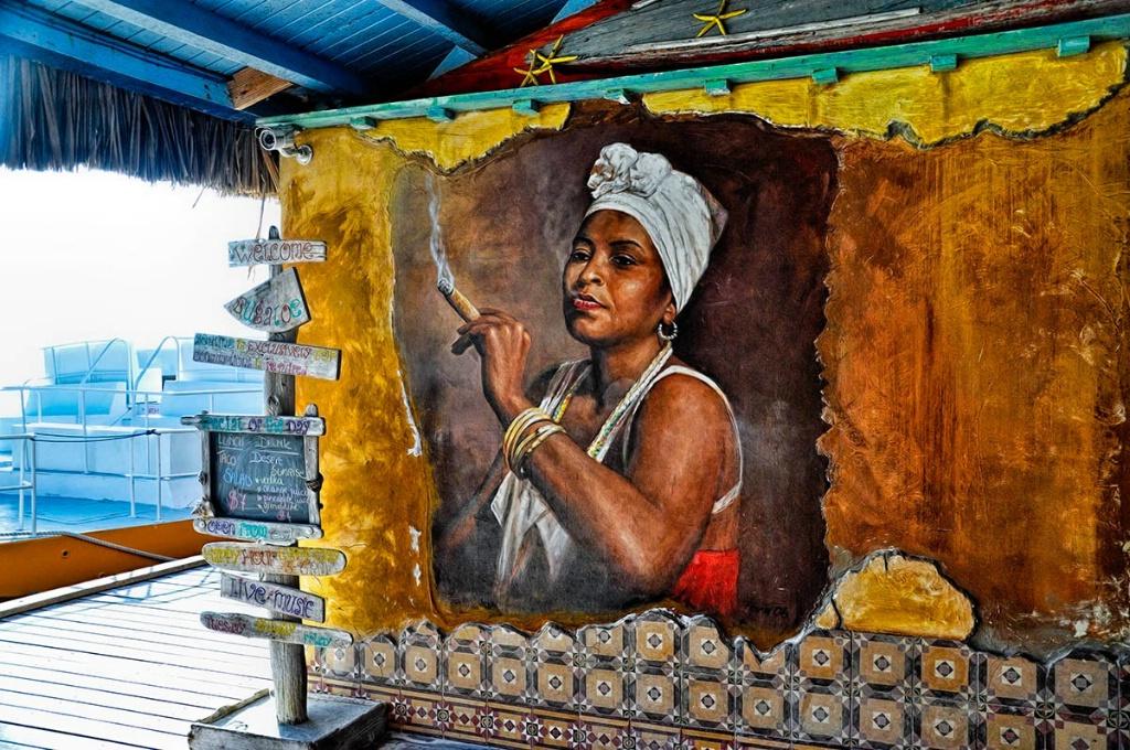 At a Bar In Aruba