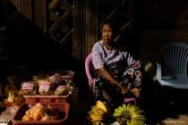 Vegetablel seller old woman