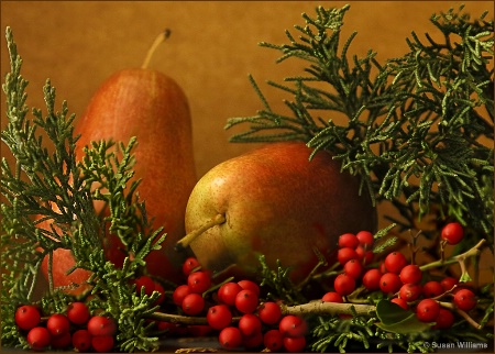 Holiday Pears and Berries