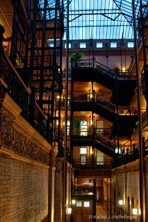 Central Atrium in Bradbury Building