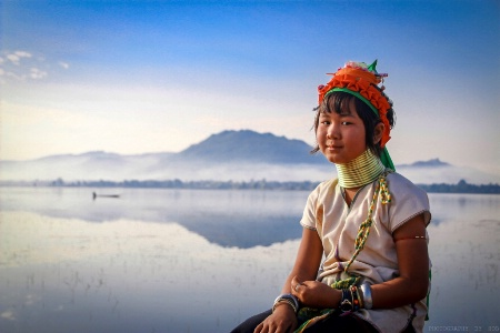 The beauty of Pedong girl and Ngwe Taung Dam
