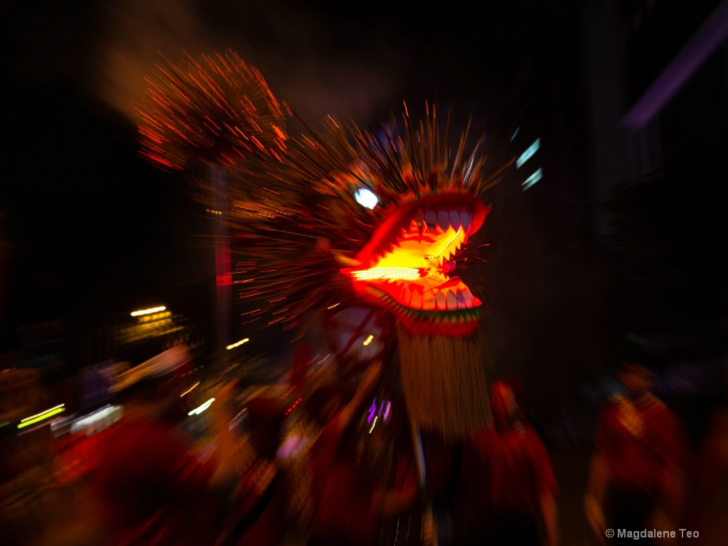 Fire Dragon Series - Zooming into the Fire  - ID: 15675532 © Magdalene Teo