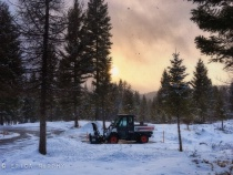 Backlit Snow