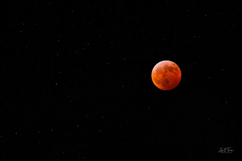 Super Blood Moon in the Heavens