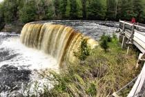 Tannin water of Tahquamenon Falls