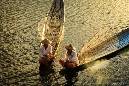 Fishermen Under Fine Evening.JPG