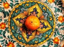 Orange in Sicilian Plate