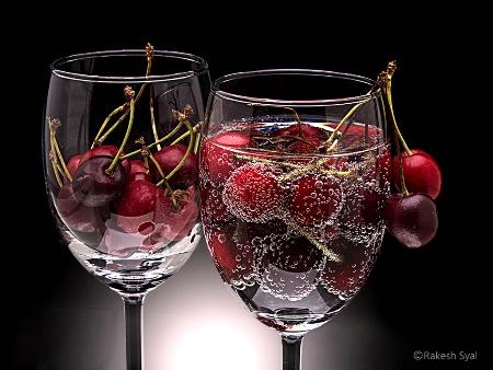 Cherries with soda #2