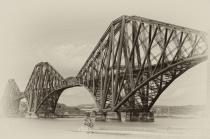 Firth of Forth Bridge in Scotland