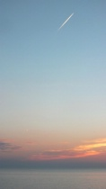 Hazy Lake Huron Sunset