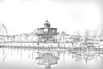 Seven Foot Knoll Light House w/ Pencil Sketch