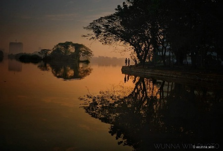 Inyar lake morning time