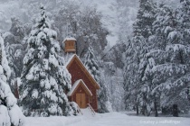 Chapel in Winter Storm