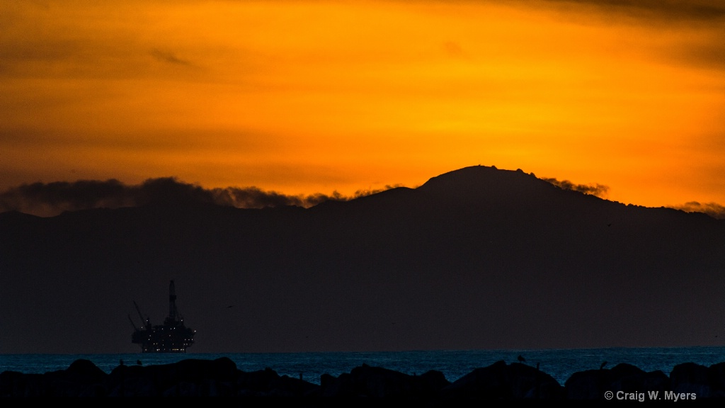 Santa Barbara Channel Sunset