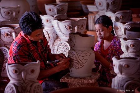 Hand made flower pot