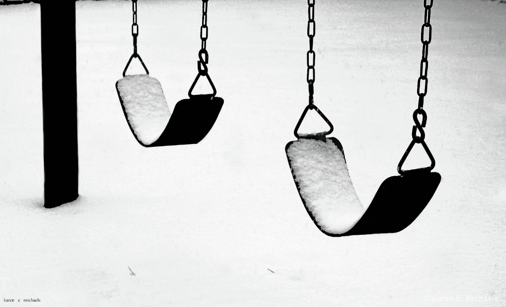 snow on swings