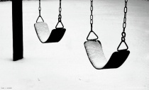 snow on swings