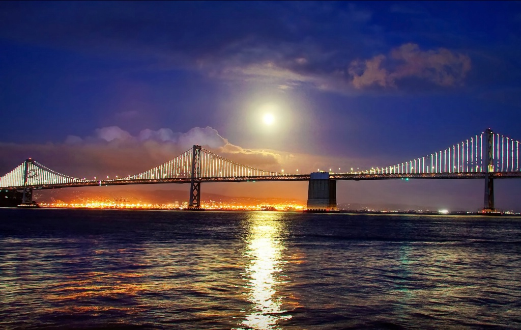 Super Moon Over the Bay