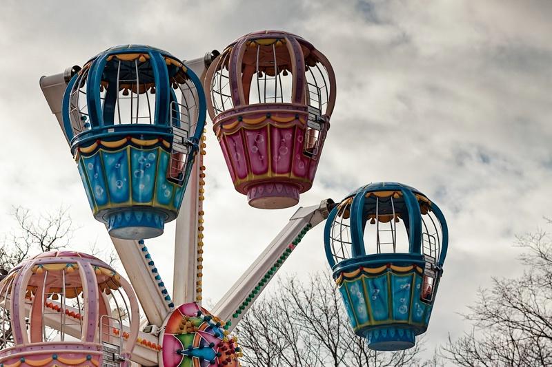 Cabins Of A Ferris Wheel