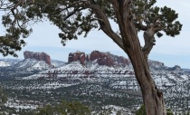 Sedona Rocks With Historic Snow