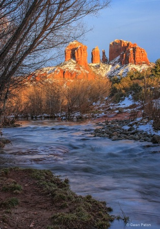 Sunlight on Cathedral Rock