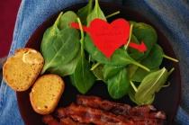Valentines day breakfast.