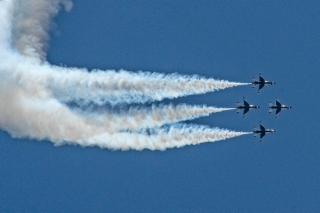 Thunderbirds in Perfect Formation
