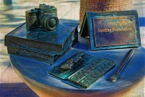 Camera, Books and Paint