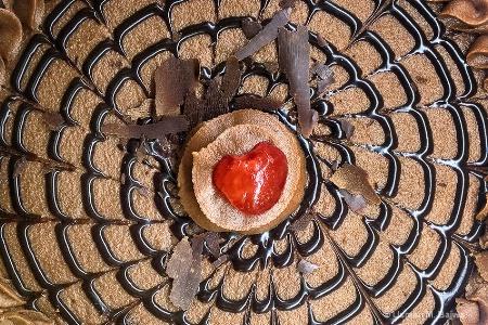 Cherry on Chocolate cake