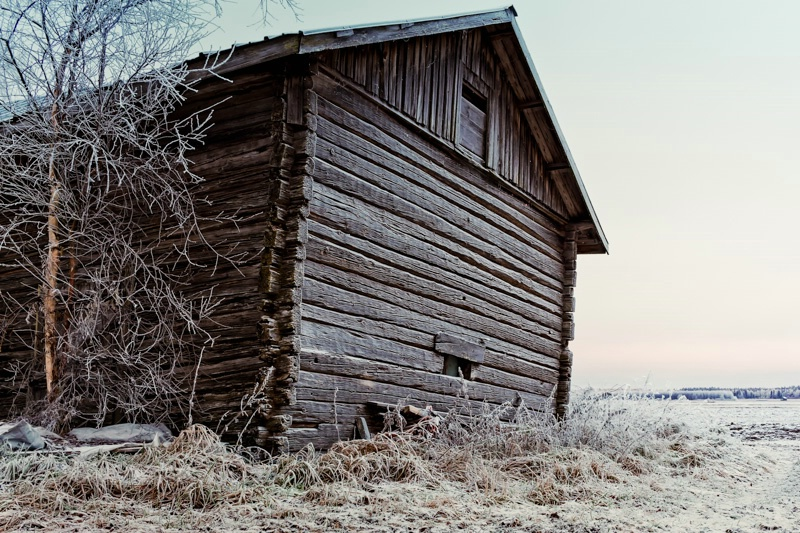Frosty Barn Wall