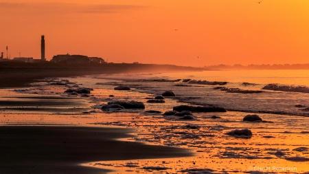 oak island light house sunrise