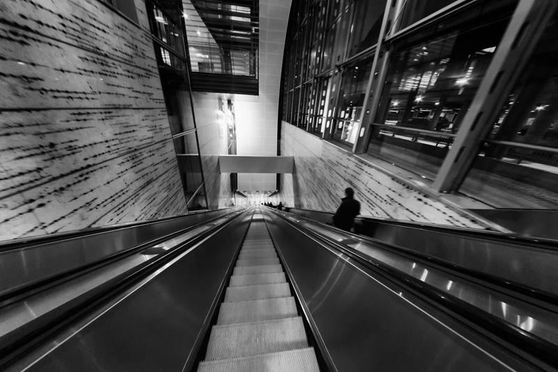 Airport Escalator Corridor