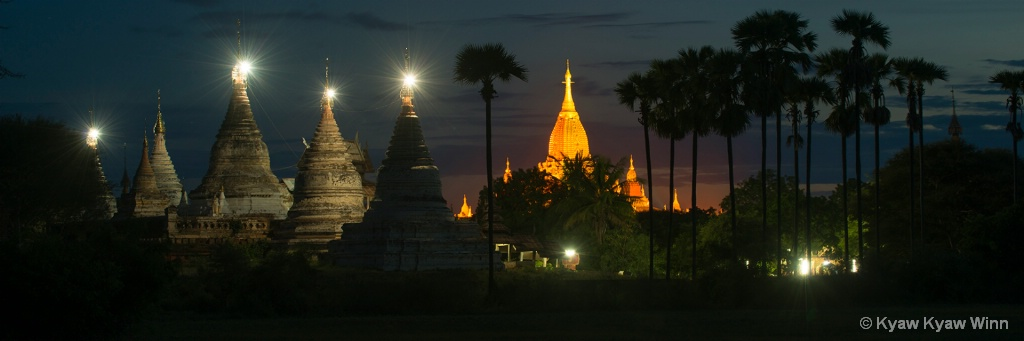One Of the Night Scene of Bagan