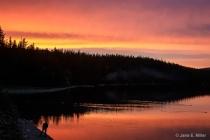 Sunset at Glacier Lake