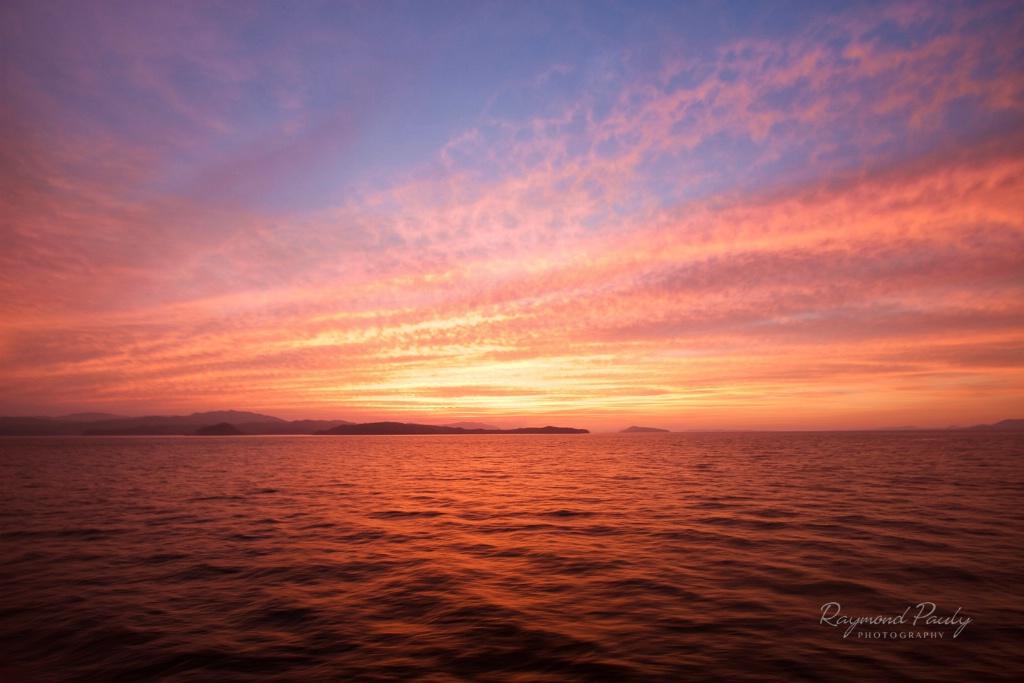 Sunset in Gulf of Nicoya