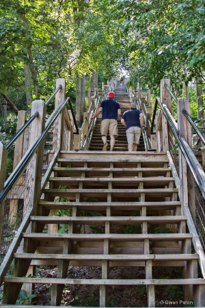 Stairs in Saugatuck