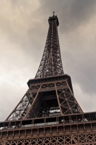 Heavy Clouds Over Eiffel Tower