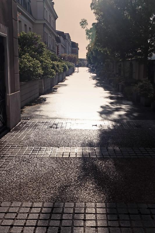 Narrow Alley In Bright Sunlight