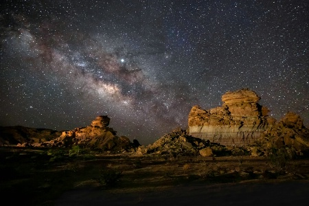 Hoodoos of Big Bend NP Under The Milky Way